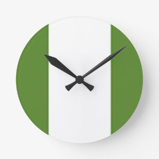 ナイジェリアの旗 ラウンド壁時計