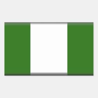 ナイジェリアの旗 長方形シール