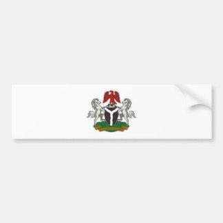 ナイジェリアの紋章付き外衣 バンパーステッカー