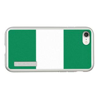 ナイジェリアの銀製のiPhoneの場合の旗 Incipio DualPro Shine iPhone 8/7ケース
