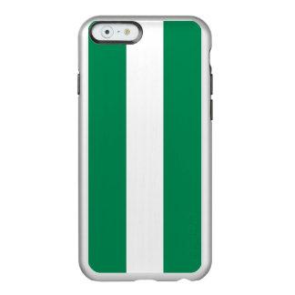 ナイジェリアの銀製のiPhoneの場合の旗 Incipio Feather Shine iPhone 6ケース