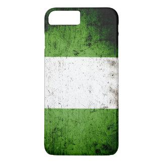 ナイジェリアの黒くグランジな旗 iPhone 8 PLUS/7 PLUSケース