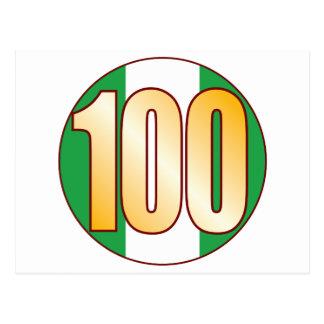 ナイジェリアの100金ゴールド ポストカード