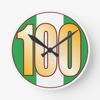 ナイジェリアの100金ゴールド ラウンド壁時計
