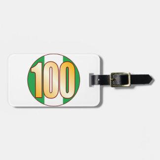 ナイジェリアの100金ゴールド ラゲッジタグ
