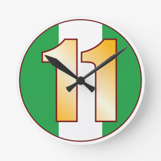 ナイジェリアの11金ゴールド ラウンド壁時計
