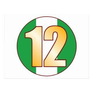 ナイジェリアの12金ゴールド ポストカード