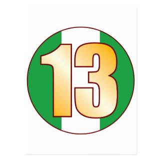 ナイジェリアの13金ゴールド ポストカード