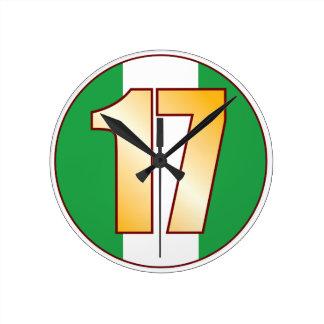 ナイジェリアの17金ゴールド ラウンド壁時計