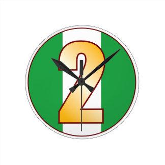 ナイジェリアの2金ゴールド ラウンド壁時計