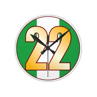 ナイジェリアの22金ゴールド ラウンド壁時計