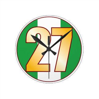 ナイジェリアの27金ゴールド ラウンド壁時計