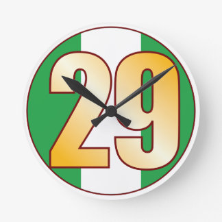 ナイジェリアの29金ゴールド ラウンド壁時計
