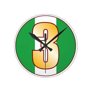 ナイジェリアの3金ゴールド ラウンド壁時計