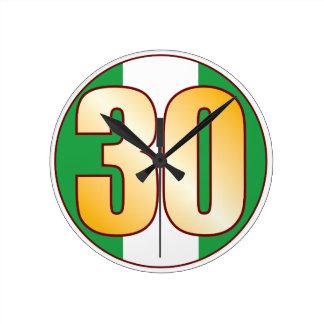 ナイジェリアの30金ゴールド ラウンド壁時計