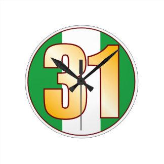 ナイジェリアの31金ゴールド ラウンド壁時計