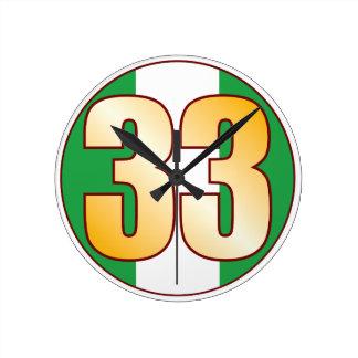 ナイジェリアの33金ゴールド ラウンド壁時計