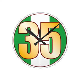 ナイジェリアの35金ゴールド ラウンド壁時計