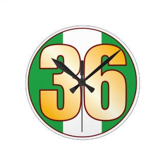 ナイジェリアの36金ゴールド ラウンド壁時計