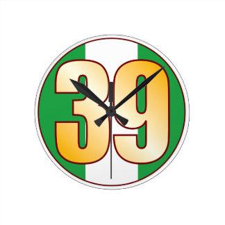 ナイジェリアの39金ゴールド ラウンド壁時計