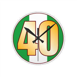 ナイジェリアの40金ゴールド ラウンド壁時計
