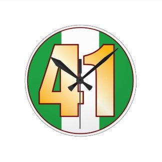 ナイジェリアの41金ゴールド ラウンド壁時計