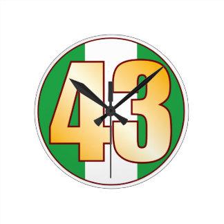 ナイジェリアの43金ゴールド ラウンド壁時計