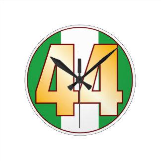 ナイジェリアの44金ゴールド ラウンド壁時計