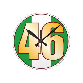 ナイジェリアの46金ゴールド ラウンド壁時計