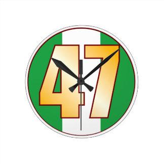 ナイジェリアの47金ゴールド ラウンド壁時計