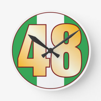 ナイジェリアの48金ゴールド ラウンド壁時計