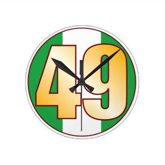ナイジェリアの49金ゴールド ラウンド壁時計