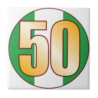 ナイジェリアの50金ゴールド タイル