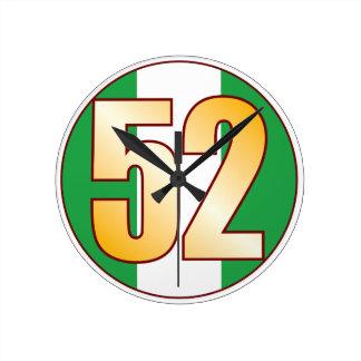 ナイジェリアの52金ゴールド ラウンド壁時計