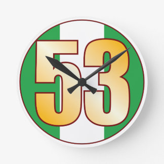 ナイジェリアの53金ゴールド ラウンド壁時計