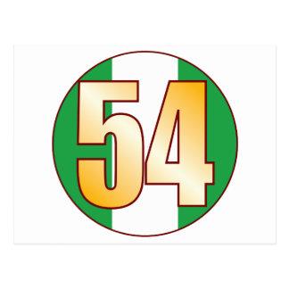 ナイジェリアの54金ゴールド ポストカード