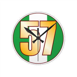 ナイジェリアの57金ゴールド ラウンド壁時計