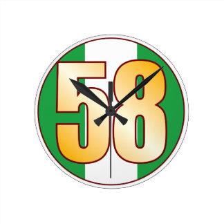 ナイジェリアの58金ゴールド ラウンド壁時計