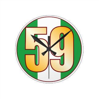 ナイジェリアの59金ゴールド ラウンド壁時計