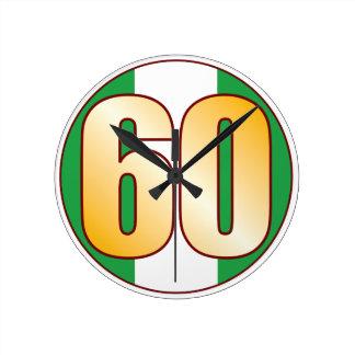 ナイジェリアの60金ゴールド ラウンド壁時計