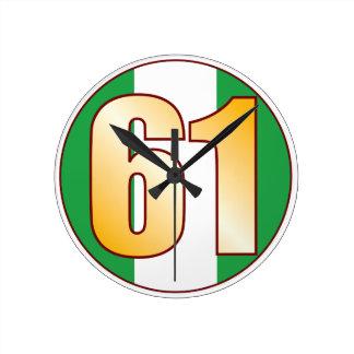 ナイジェリアの61金ゴールド ラウンド壁時計