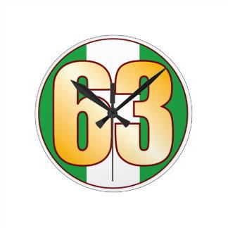 ナイジェリアの63金ゴールド ラウンド壁時計