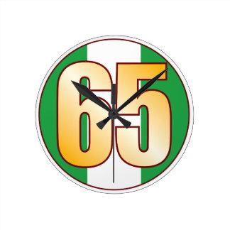 ナイジェリアの65金ゴールド ラウンド壁時計