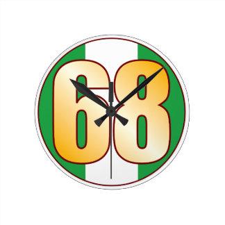 ナイジェリアの68金ゴールド ラウンド壁時計