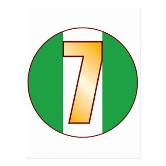 ナイジェリアの7金ゴールド ポストカード