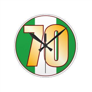 ナイジェリアの70金ゴールド ラウンド壁時計