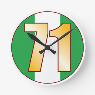 ナイジェリアの71金ゴールド ラウンド壁時計