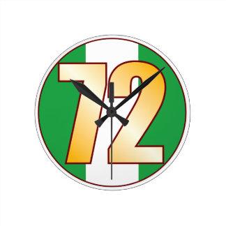 ナイジェリアの72金ゴールド ラウンド壁時計