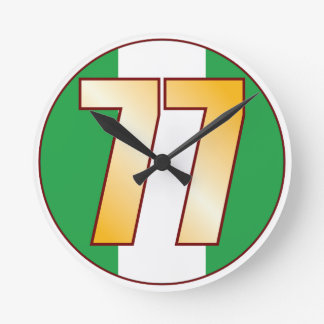 ナイジェリアの77金ゴールド ラウンド壁時計