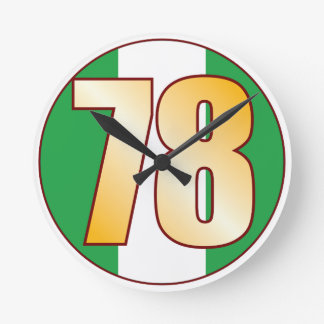 ナイジェリアの78金ゴールド ラウンド壁時計